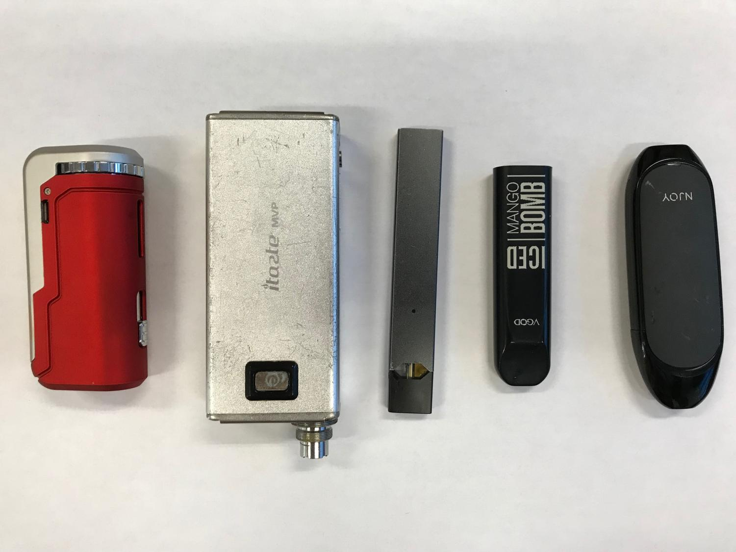 These are just a few of the vapes that students are introduced to.
