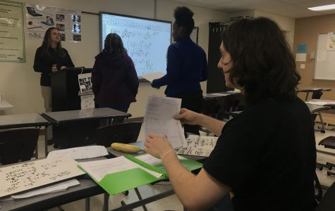 Students in Mrs. Dillender's ACP Calculus class ask questions