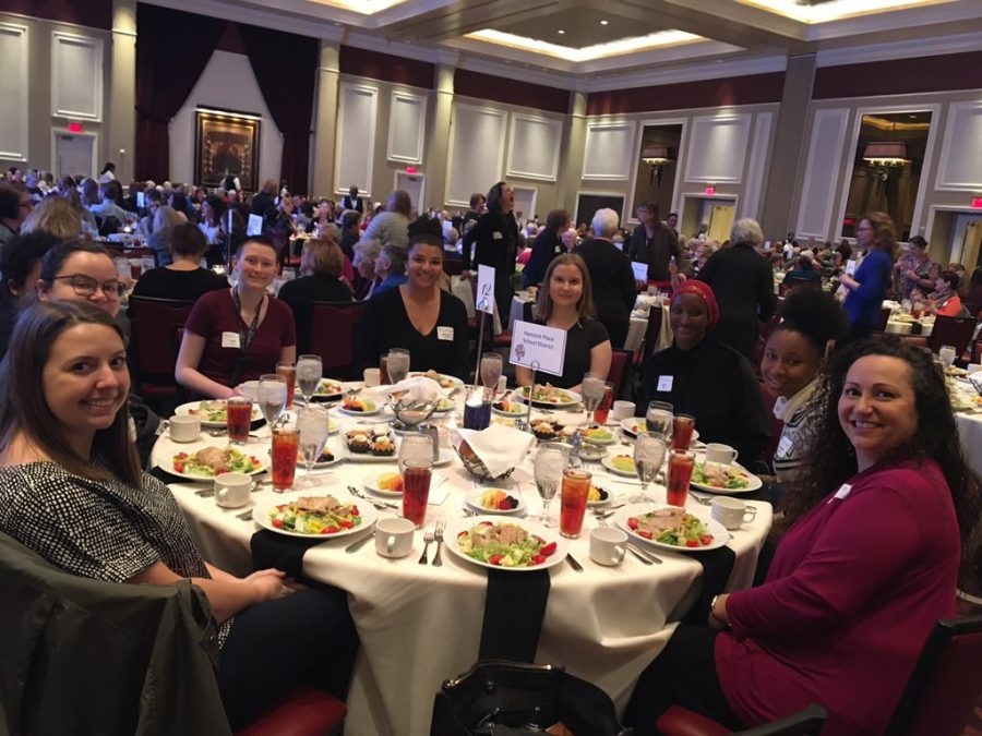 HHS women at the annual luncheon organized by Notre Dame