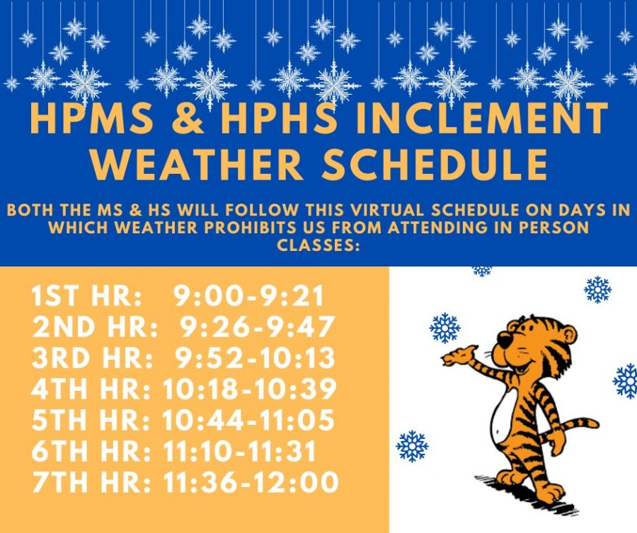HPHS and HPMS new Inclement Weather schedule